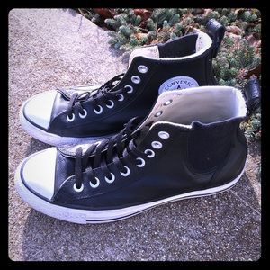 Leather high-top Chuck Taylor's